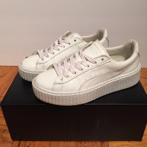 quality design fe959 68d42 Puma Fenty Creeper White Patent Leather Rihanna